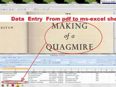 Demo project of Data Entry