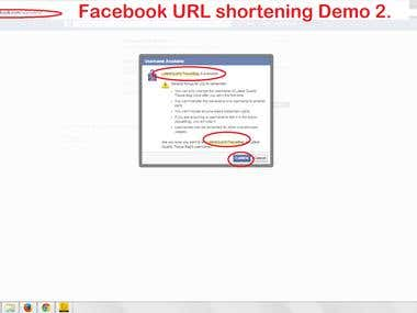 Facebook URL shortening Demo-01