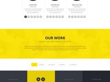 QVA -One Page Multi-purpose JOOMLA-3X Template