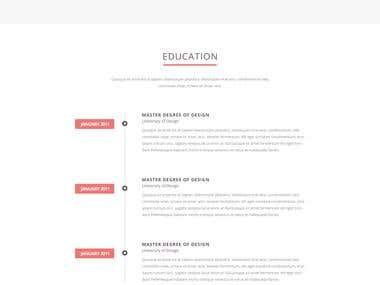 Folix -Resume, Personal, Portfolio JOOMLA Template