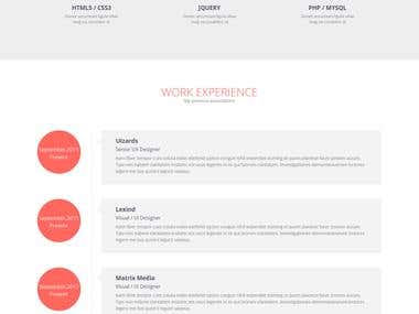 Flato - Responsive Resume JOOMLA Template
