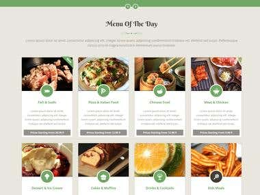 Sexy Food - Food & Restaurant HTML Template