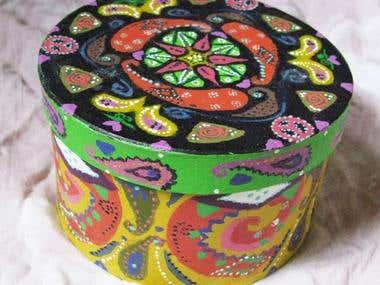 Kaleidoscope Painted Box