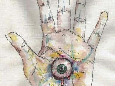 Hand Drawn Morbid Hamsa