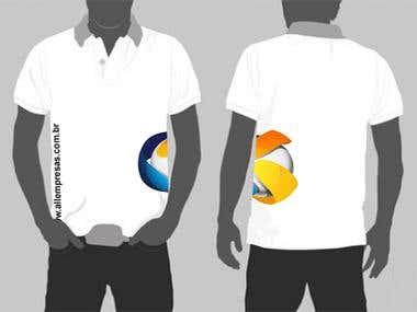 Desenvolvimento da arte para camiseta da empresa