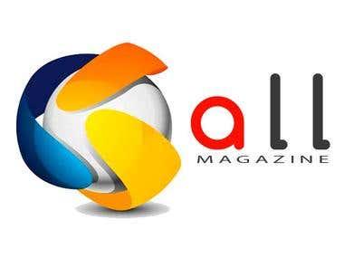 Desenvolvimento de logo para empresa All Magazine