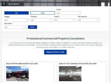 Property Site in Wordpress