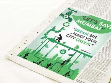 Newspapper Ad ( Clean Mumbai )