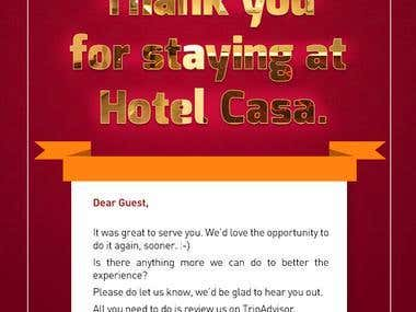 PSD to Email Template - Hotel Casa