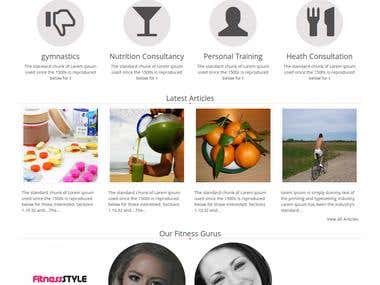 Fitness Style:Reponsive WordPress theme