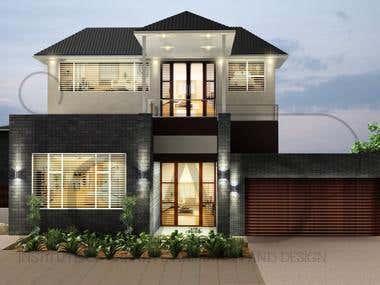 Front facade renders