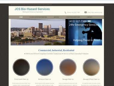 A Biohazard services website