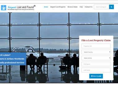 An airport lost and found website
