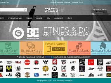 Grace Skateshop Website