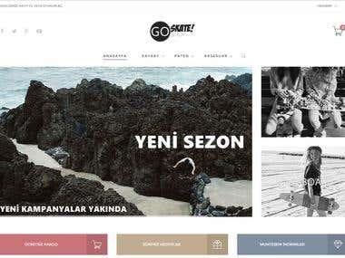 Go Skateshop Website