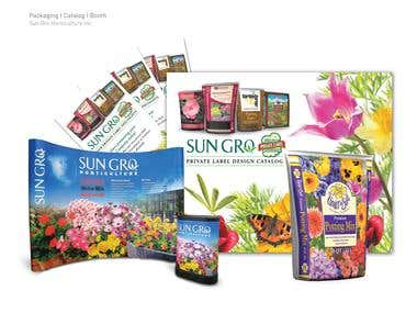 SunGro Private Label Catalog, Packaging & Booth