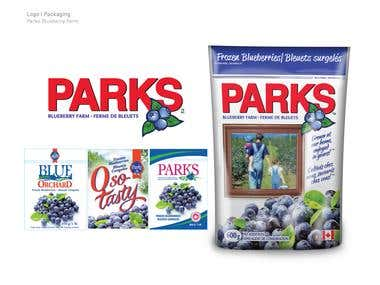 Parks Blueberries Logo & Packaging Design