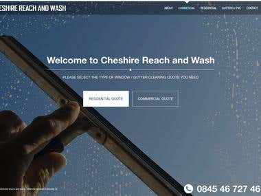 Cheshire Reach and Wash   website design and development