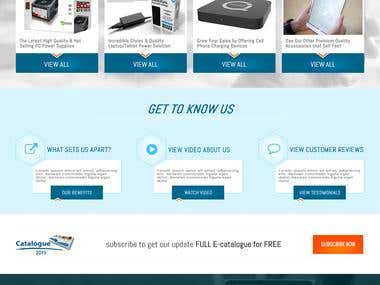 Custom Electronics eCommerce Website