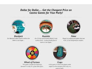 Custom Website Design for Casino Gaming Company