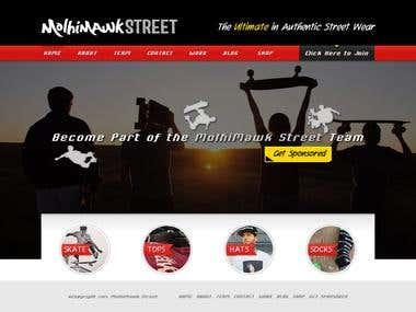 Street Wear Company WordPress Website