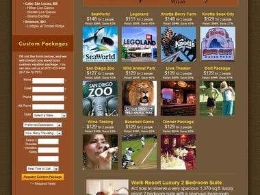 Resort Vacation Sales Website - Homepage