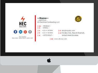 Responsive HTML Email Signature for HEC