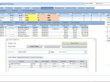 Inventory and Time Sheet Management System