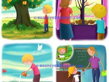 Storybok-illustration