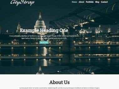 HTML5 BootStrap Theme