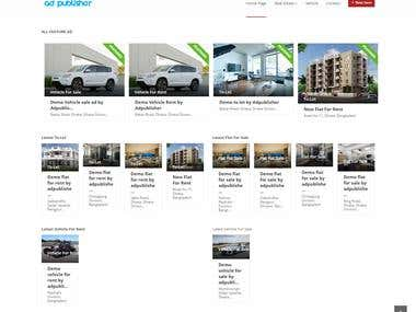 Ad publishing site for various kind of propertise.