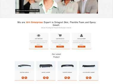 The Arti Enterprises Responsive Website