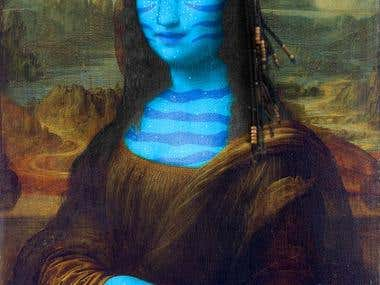 Na\'vi Mona lisa