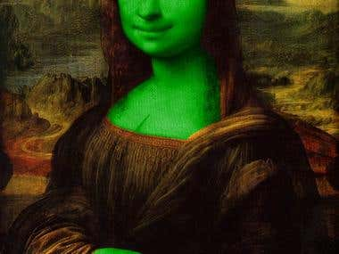 Mona lisa, shrek version