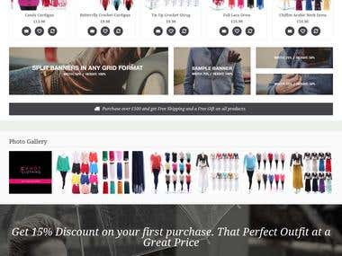 Fully customized shop in Prestashop 1.6.