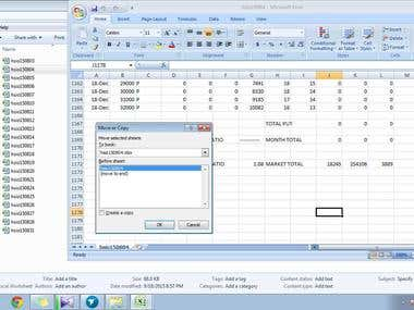 Excel gather info