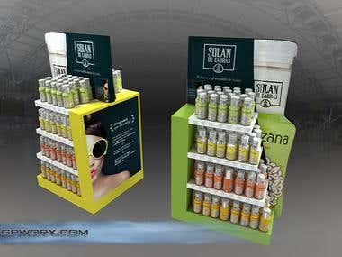 Expositor design POS Solan de Cabras