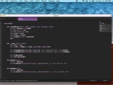 Python app using py2app/py2exe