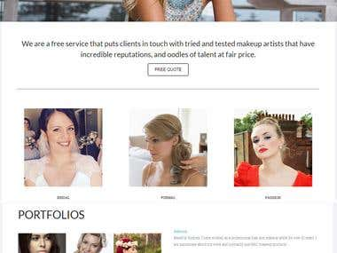 Wordpress Website - makeupartistnorthernbeaches.com.au