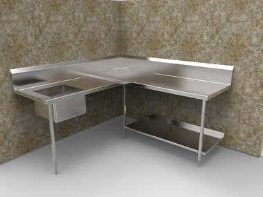 Kitchen Bench Design for Sheetmetal work