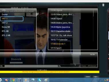 IPTV App (Web Development - Samsung TV)