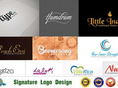 unique signature-logo design