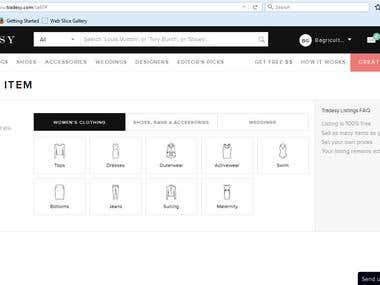 Tradesy Product Listing