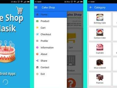 Cake shop in Nashik, Android Apps with CMS Admin Panel PHP