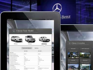Mercedes-Benz Tablet Application