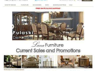 LANA FURNITURE - eCommerce website