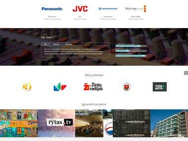 AV SYSTEMS - Responsive website