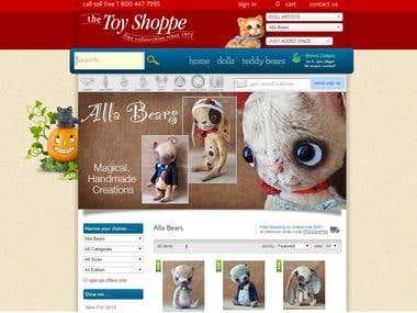 THE TOY SHOPPE - eCommerce website