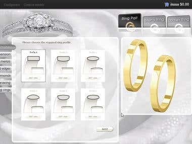 Online Ring Customization tool