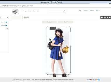 Mobile case custom designer tool